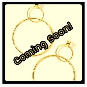 *Trendy Double Layer Hoop Gold Earrings*